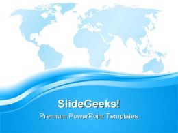 Blue World Map Abstract PowerPoint Templates And PowerPoint Backgrounds 0511
