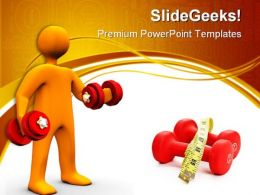 Body Building Health PowerPoint Templates And PowerPoint Backgrounds 0411
