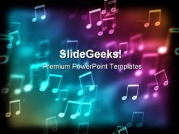 Bokeh Effect Music PowerPoint Template 0610