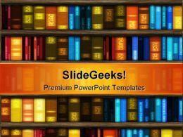 Book Case Education PowerPoint Template 1110