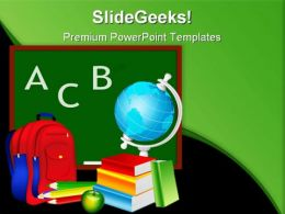 Books And School Bag Education PowerPoint Template 1110
