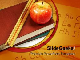 Books Education PowerPoint Template 0810