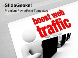 Boost Web Traffic Internet PowerPoint Templates And PowerPoint Backgrounds 0511