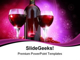 Bottle Of Red Wine Food PowerPoint Templates And PowerPoint Backgrounds 0311