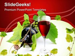 Bottle Of Wine Lifestyle PowerPoint Templates And PowerPoint Backgrounds 0311