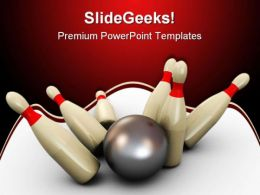 Bowling Sports PowerPoint Templates And PowerPoint Backgrounds 0511