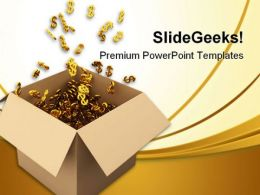 Box Full Of Bucks Money PowerPoint Background And Template 1210
