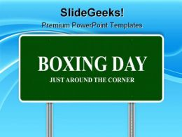 Boxing Day Highway Signpost Game PowerPoint Templates And PowerPoint Backgrounds 0911