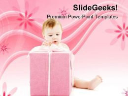 Boy With Gift Festival PowerPoint Templates And PowerPoint Backgrounds 0511