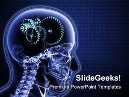 Brain Gears Science PowerPoint Template 0610