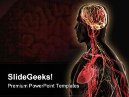Brain Heart Medical PowerPoint Template 0610