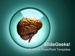 Brain Medical PowerPoint Backgrounds And Templates 0111