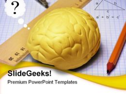 Brain Studies Education PowerPoint Backgrounds And Templates 0111