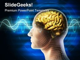 Brain Waves Idea Metaphor PowerPoint Backgrounds And Templates 0111