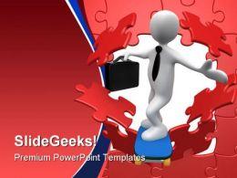 Break Through Business PowerPoint Template 1010