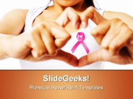 Breast Cancer Ribbon Medical PowerPoint Templates And PowerPoint Backgrounds 0411
