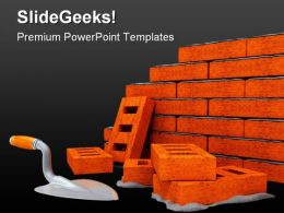 Brick Wall Construction PowerPoint Templates And PowerPoint Backgrounds 0311