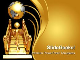 Bridge To World Business PowerPoint Template 1110