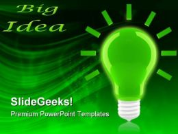 Bright Idea Icon Business PowerPoint Templates And PowerPoint Backgrounds 0211