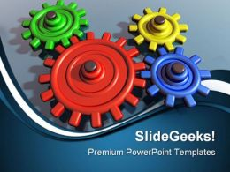 Brightly Color Gears Industrial PowerPoint Templates And PowerPoint Backgrounds 0511