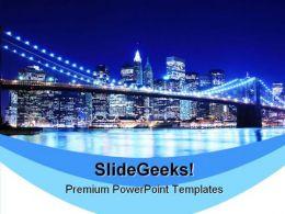 Brooklyn Bridge Beauty PowerPoint Template 1010