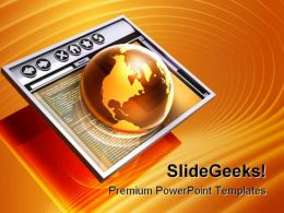 Browsing The Internet Globe PowerPoint Templates And PowerPoint Backgrounds 0111