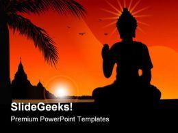Buddha01 Religion PowerPoint Template 0610