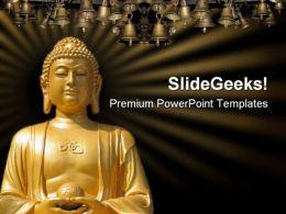 Buddha Religion PowerPoint Template 0610