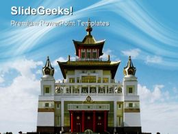 Buddhist Temple Religion PowerPoint Templates And PowerPoint Backgrounds 0811