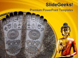 Budha Religion PowerPoint Templates And PowerPoint Backgrounds 0711