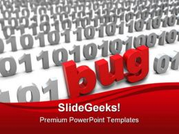 Bug In Binary Code Computer PowerPoint Templates And PowerPoint Backgrounds 0111