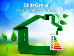 Building Energy Performance Real Estate PowerPoint Templates And PowerPoint Backgrounds 0411