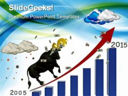 Bull Market Money PowerPoint Backgrounds And Templates 0111