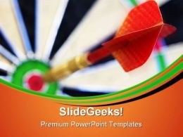 Bullseye Business Game PowerPoint Templates And PowerPoint Backgrounds 0711