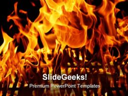Burning Flame From Grill Industrial PowerPoint Templates And PowerPoint Backgrounds 0311