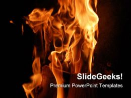 Burning Wood Metaphor PowerPoint Templates And PowerPoint Backgrounds 0411