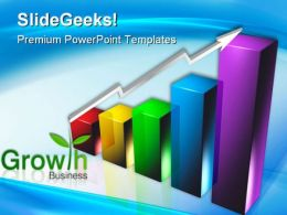 Business Arrow And Growth Chart Success PowerPoint Templates And PowerPoint Backgrounds 0311