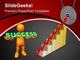 Business Arrow On Target Success PowerPoint Templates And PowerPoint Backgrounds 0811