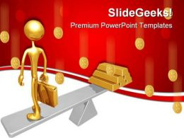 Business Balance Money PowerPoint Templates And PowerPoint Backgrounds 0611