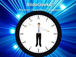 Business Clock01 People PowerPoint Templates And PowerPoint Backgrounds 0211