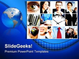 Business Collage People PowerPoint Backgrounds And Templates 0111