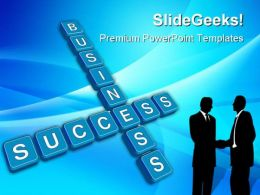 Business Concept Crossword Success PowerPoint Templates And PowerPoint Backgrounds 0411