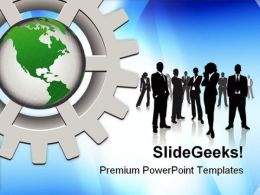 Business Concept Global PowerPoint Templates And PowerPoint Backgrounds 0811