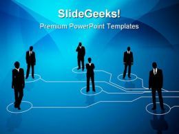 Business Connections Communication PowerPoint Templates And PowerPoint Backgrounds 0511