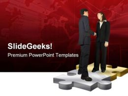 Business Couple Handshake PowerPoint Templates And PowerPoint Backgrounds 0511