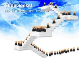 Business Crowd Success PowerPoint Templates And PowerPoint Backgrounds 0511