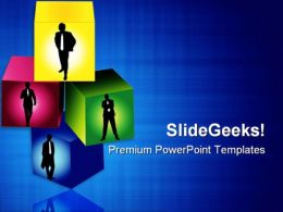 Business Cubes Leadership PowerPoint Templates And PowerPoint Backgrounds 0511