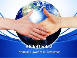 Business Handshake Global PowerPoint Templates And PowerPoint Backgrounds 0311