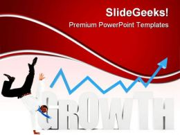 Business Man With Growth Success PowerPoint Templates And PowerPoint Backgrounds 0511