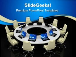 Business Meeting Computer PowerPoint Templates And PowerPoint Backgrounds 0511